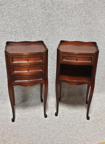 Pair French Mahogany Bedside Cabinets (1 of 3)
