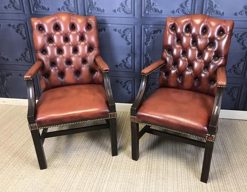 Gainsborough Style Desk Chairs c.1930 (1 of 11)