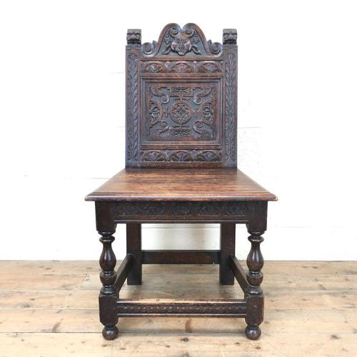 Victorian Carved Oak Chair (1 of 9)