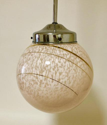 Art Deco Glass Pendant Light (1 of 11)