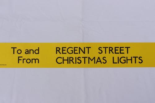 London Transport Slipboard Poster for Regent Street Christmas Lights (1 of 1)
