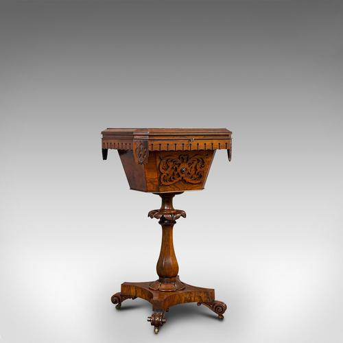 Antique Lady's Work Box, English, Rosewood, Sewing, Table, Regency c.1820 (1 of 12)
