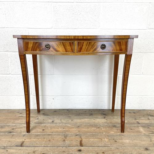 Reproduction Mahogany Bow Front Side Table (1 of 9)