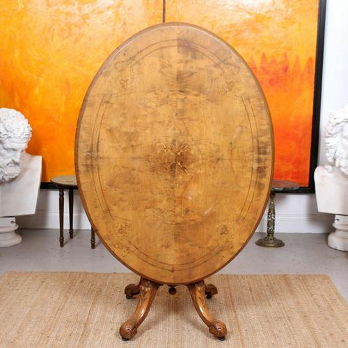 Walnut Marquetry Breakfast Table 19th Century (1 of 10)