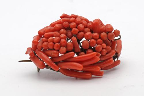 Antique Coral Brooch (1 of 1)