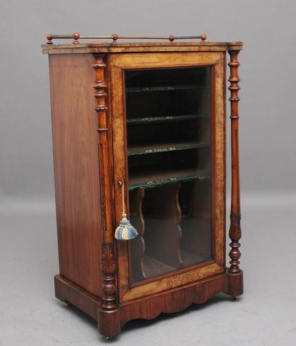 19th Century Burr Walnut Inlaid Music Cabinet (1 of 9)