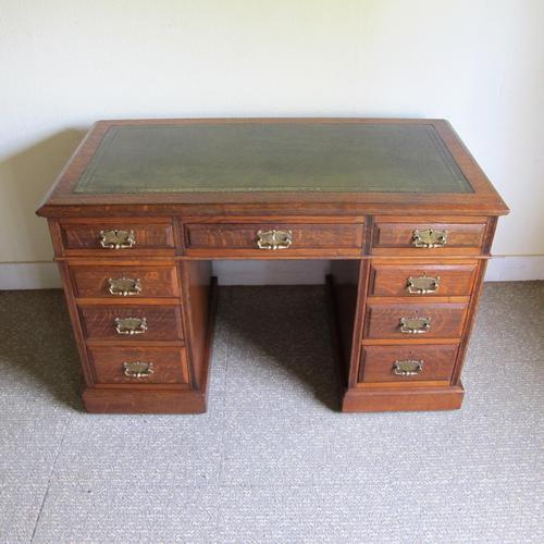 Oak Pedestal Desk - Edwardian (1 of 8)