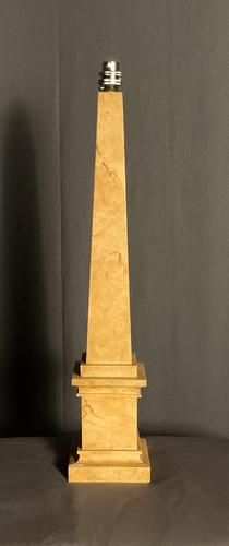 Faux Marble Obelisk Table Lamp (1 of 6)