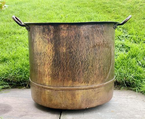 Large Sturdy Solid Copper Bin c.1900 (1 of 11)