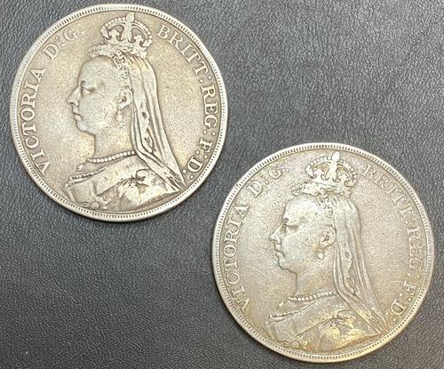 Victorian Silver Crowns 1891 '2 of' (1 of 2)