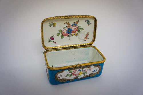 19th century blue enameled box (1 of 5)