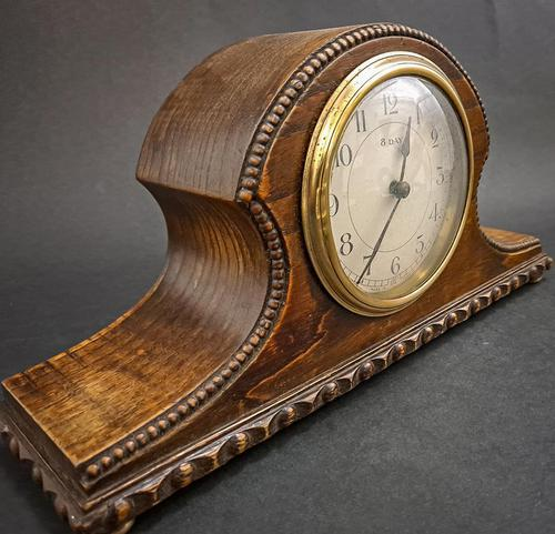 French Wooden Mantel Clock (1 of 5)