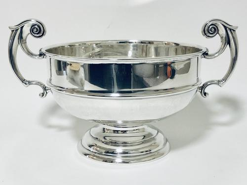 Large Antique Solid Silver Punch Bowl (1 of 12)