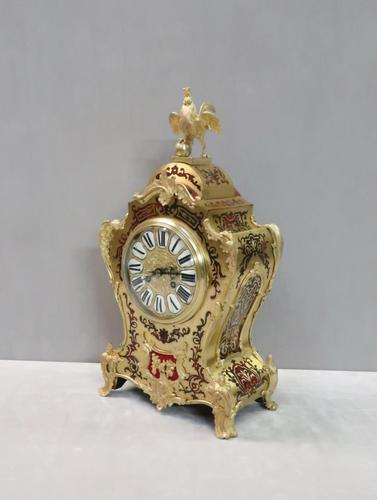 French Napoleon III Boulle Mantel Clock by Japy Freres (1 of 11)