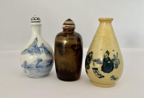 Trio of Chinese Snuff Bottles c.1920 (1 of 7)