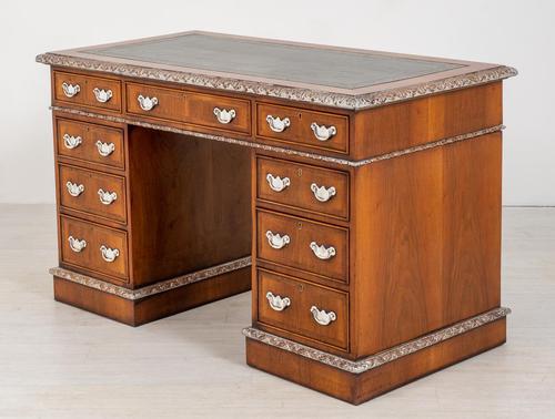 Superb Victorian Walnut 2 Pedestal Desk (1 of 10)