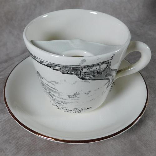 "Gray's Pottery ""Colt Texas Paterson""Moustache Cup & Saucer (1 of 6)"