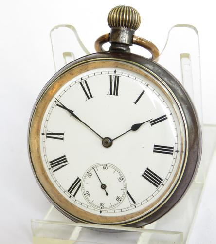 Antique Omega Gun Metal Pocket Watch (1 of 5)