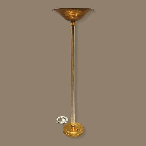 Art Deco Glass Rod & Copper Standard Lamp (1 of 9)
