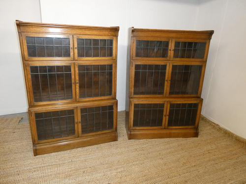 Pair of Oak 1920s Bookcases (1 of 12)