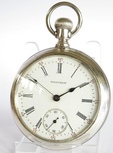 Antique Waltham Silver Pocket Watch, 1896 (1 of 4)
