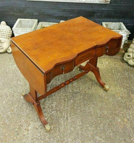 Antique Design Walnut Serpentine Front Desk (1 of 7)