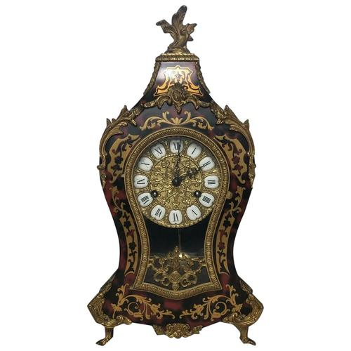 Large Fine Louis XVI Style Gilt Ormolu Marquetry Boulle Mantle 8 Day Clock (1 of 12)