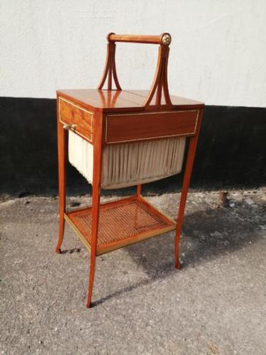 Beautiful Sheraton Revival Satinwood Sewing Table (1 of 11)
