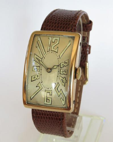 Gents large 14ct gold Art Deco Mobile watch (1 of 5)