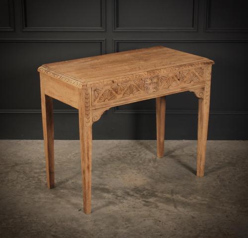 Raw Oak Sandblasted Side Table (1 of 11)