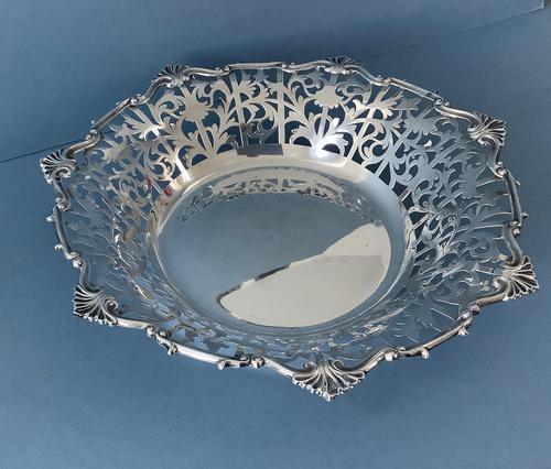 Large Antique Silver Dish or Bowl (1 of 5)