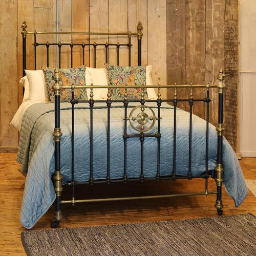 Late Victorian Brass & Cast Iron Antique Bed in Black (1 of 7)