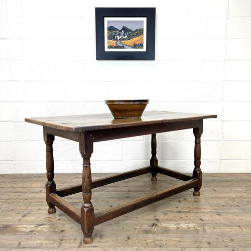 18th Century Antique Joined Oak Table (1 of 10)