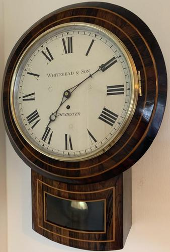 Rosewood Late Victorian Fusee Timepiece (1 of 11)