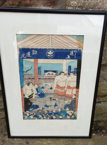 19th Century Japanese Woodblock Print (1 of 3)