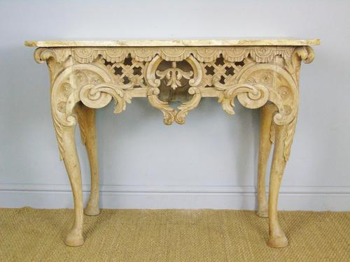 Early 19th Century Italian Console Table Sienna Marble Top (1 of 9)