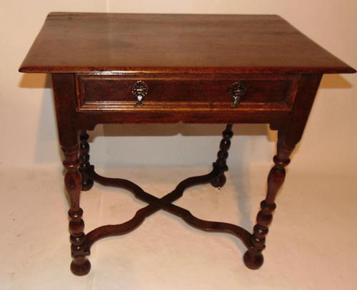 William & Mary Oak Side Table (1 of 8)