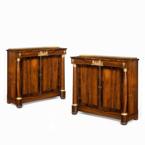 Pair of Late Regency Rosewood Side Cabinets (1 of 8)
