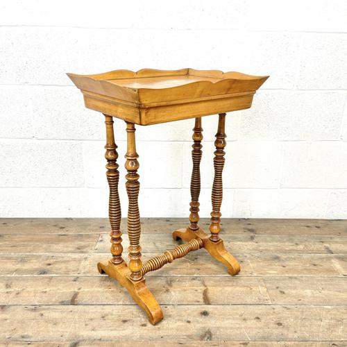 Antique Satin Birch Tray Top Side Table (1 of 10)