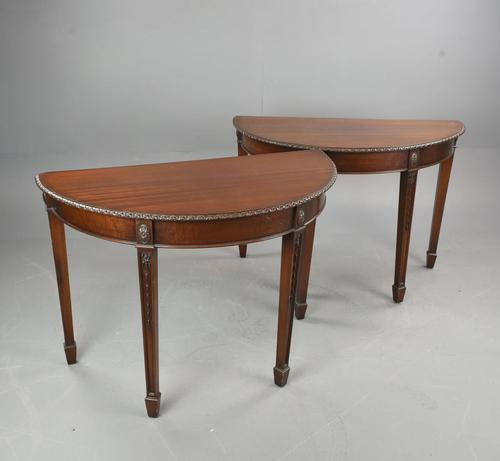 Pair of Adams Style Mahogany Console Tables (1 of 3)