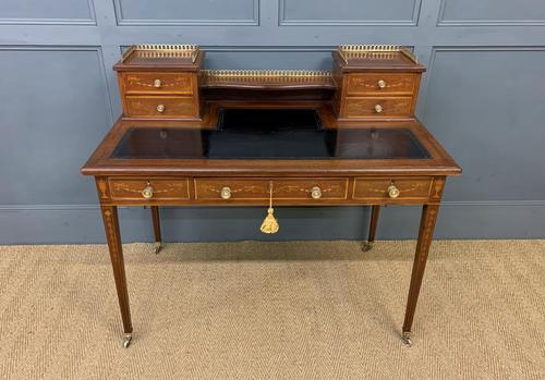 Edwards & Roberts Inlaid Mahogany Writing Desk (1 of 20)