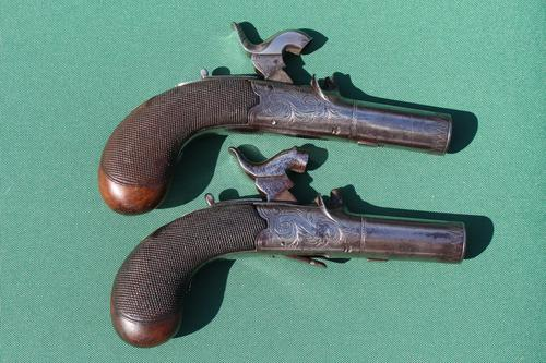 Fine Pair of 19th Century Box Lock Percussion Pocket Pistols by Boaler (1 of 13)