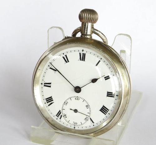 Antique 1919 Swiss Silver Pocket Watch (1 of 5)