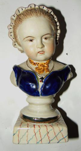Edwardian Porcelain Bust Young Lady (1 of 6)