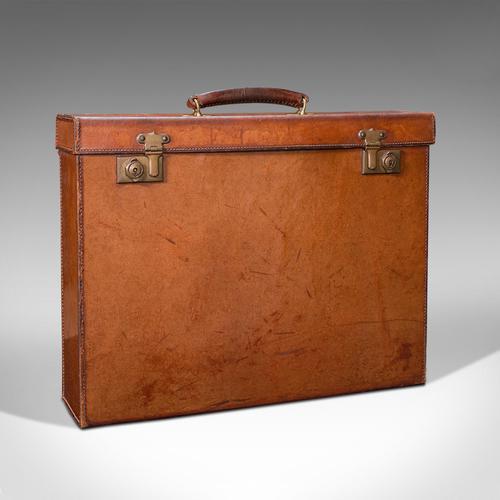 Antique Folio Case, English, Leather, Record Producer's Attache Briefcase, 1920 (1 of 12)