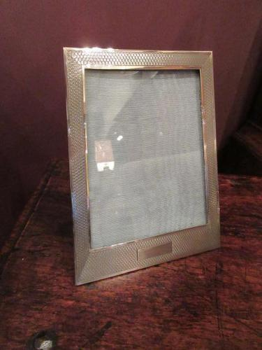 George V Period Solid Silver Engraved Photo Frame (1 of 8)