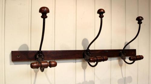 French Oak Coat & Hat Hooks (1 of 4)