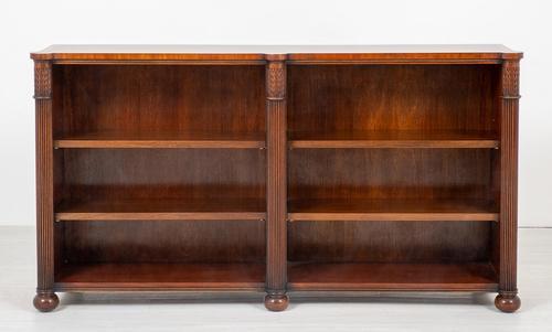 Regency Style Mahogany Double Bookcase (1 of 8)