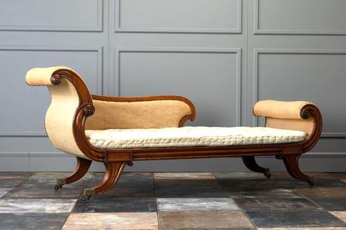 19th Century Regency Mahogany Chaise Longue (1 of 6)