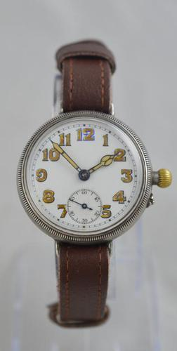 1923 Borgel Cased Silver Trench Watch (1 of 5)